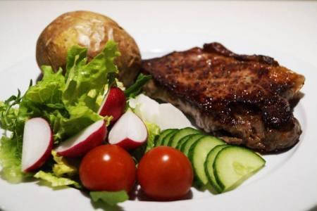 Steak-m-bagekartoffel