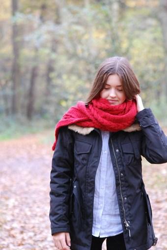 Schal stricken Herbstsonne 17 72