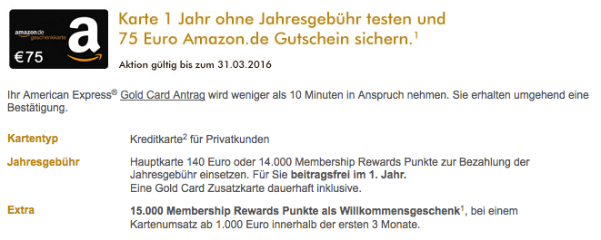 American Express Gold Credit Card Germany 15 000 Points 1 Year