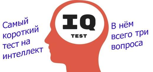 Самый короткий тест на интеллект 3 вопроса