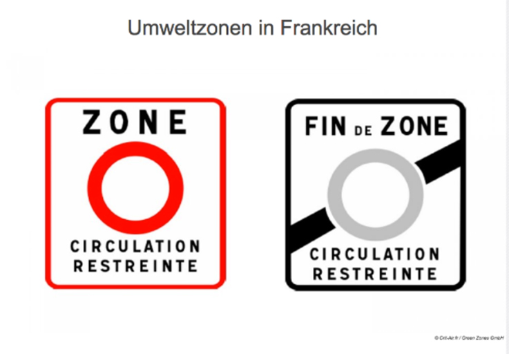 Die Crit'Air-Vignette ist in Frankreichs Umweltzonen Pflicht.