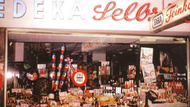 Schaufenster zur Französischen Woche des EDEKA in der Saarbrücker Bahnhofstraße, Fotograf Gerd Schulthess, Stadtarchiv Saarbrücken