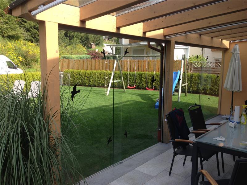 terrasse windschutz glas. Black Bedroom Furniture Sets. Home Design Ideas