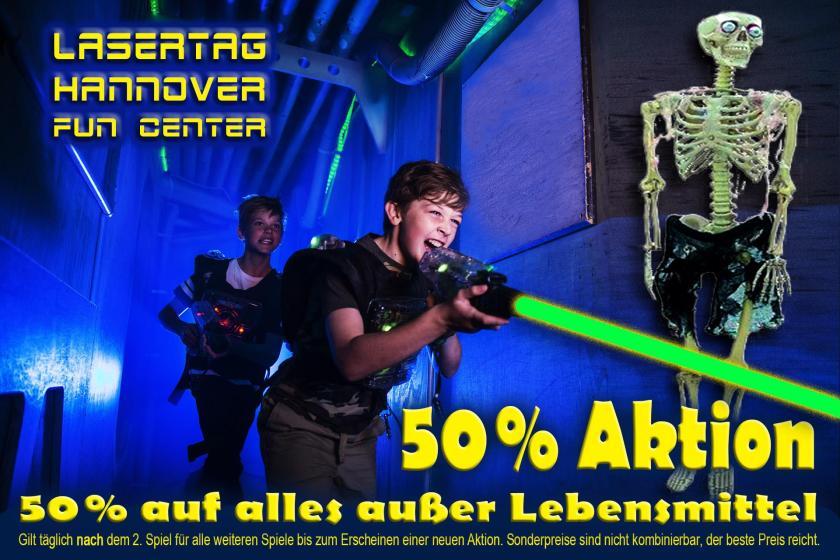 50% Rabatt bei Lasertag Hannover Fun Center