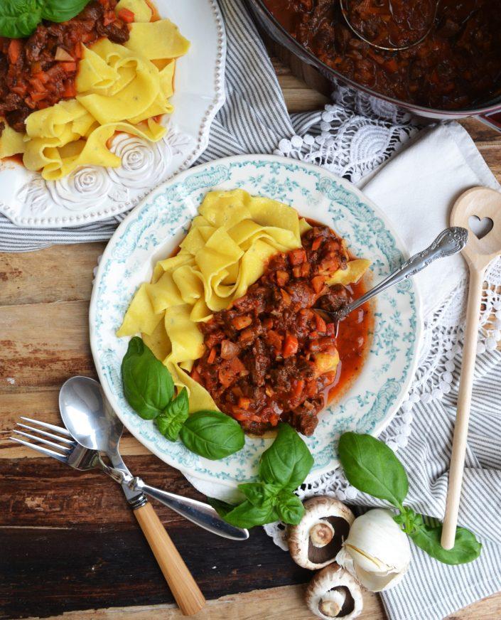 Wir lieben Pasta! Pappardelle mit Fleischragout