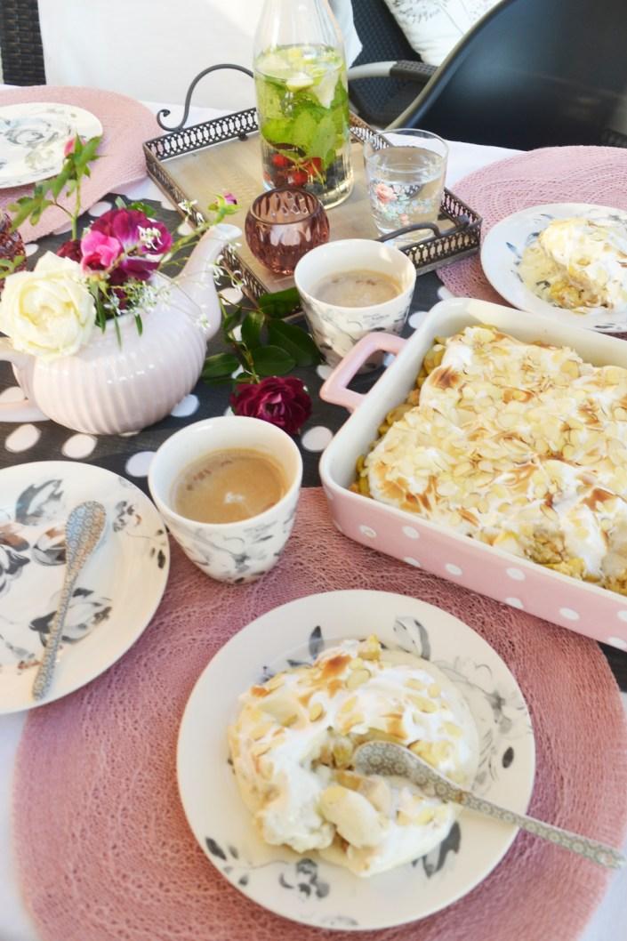 Ein Traumdessert - traumhaft serviert! Apfelkuchen - Glace au four