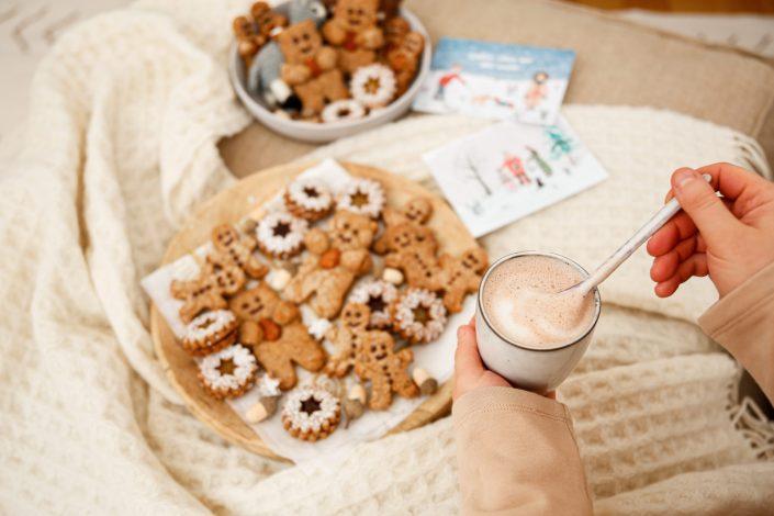 ICH HAB EUCH ZUM KNUDDELN GERN! Christmas Teddy-Cookies - in vegan & bewusst gesund