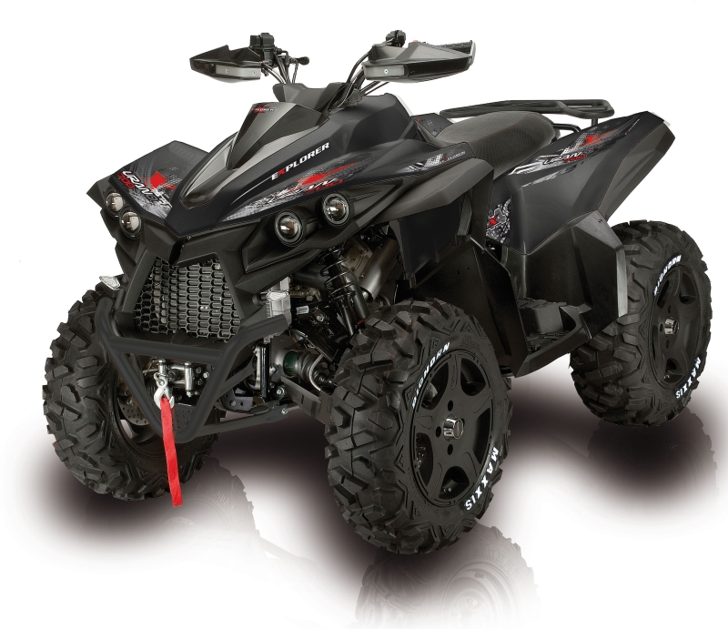 atv quad mit 675 ccm und 50 ps der explorer urano. Black Bedroom Furniture Sets. Home Design Ideas
