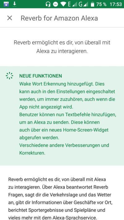 Changelog der Android App
