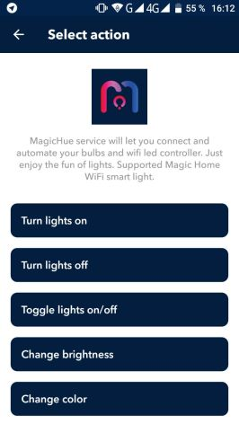 IFTTT MagicHue Bild 1