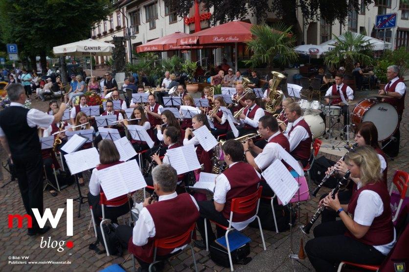Die Stadtmusik unterhielt beim Sommerfest.