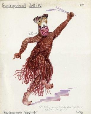 Entwurf des Zeller Schrätteli von 1938 - Archiv Uli Merkle