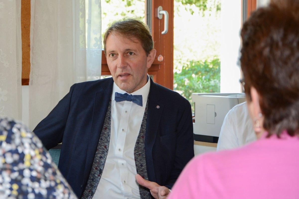 Motiviert und heiter, aber kurz vor der Wahl auch kämpferisch. Josef Haberstroh - meinWiesental.de