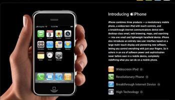 Apple reinventando o telefone e, mais uma vez, fazendo história