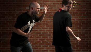Camiseta com sentido de aranha evita surpresas desagradáveis vindas da retaguarda