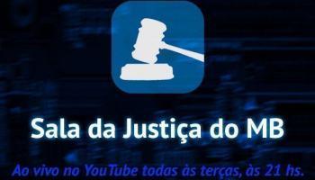 Assista a gravação ao vivo do Sala da Justiça #12 hoje às 21 h: não é brincadeira de 1º de abril!