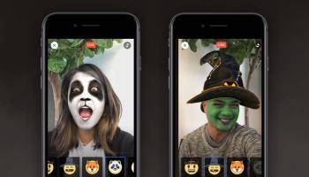 Snapchatização do Facebook continua com máscaras de Halloween no FB Live