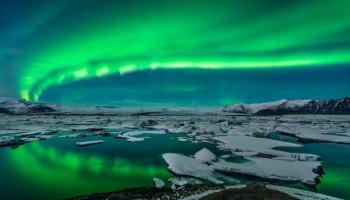 Aurora boreal vista de 35 mil pés