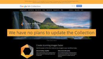 Google admite que Nik Collection está morta
