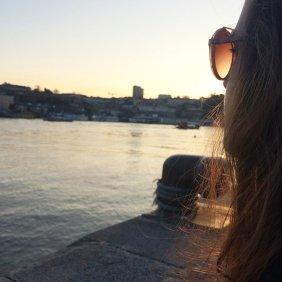 ribeira porto sunset