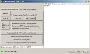 Instalar um CWR adequado ao telefone Meditek plugado