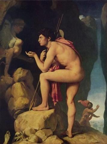 Oedipus and the Sphinx Jean Auguste Dominique Ingres