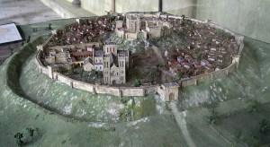 מודל העיר אולד סארום. מקור: ויקיפידיה