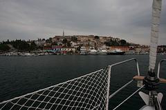 Im Hafen von Vrsar inklusive Skipper-Taufe…