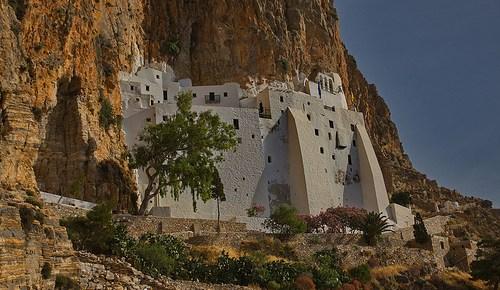 Hoch aufs Kloster von Amorgos