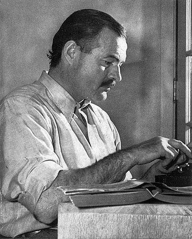 Ernest Hemingway, 1939. Photograph by Lloyd Arnold.