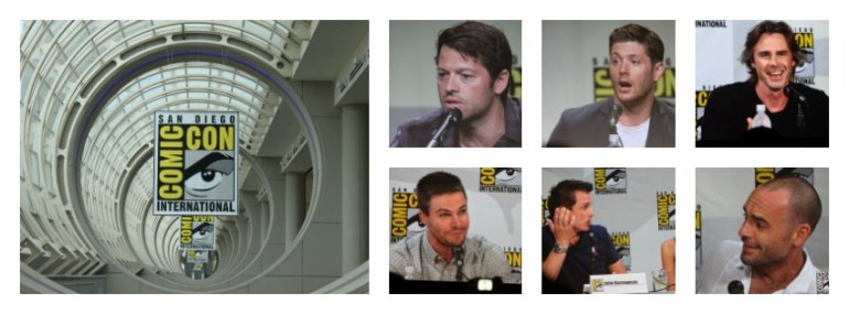 Supernatural en Arrow panel comic con 2014