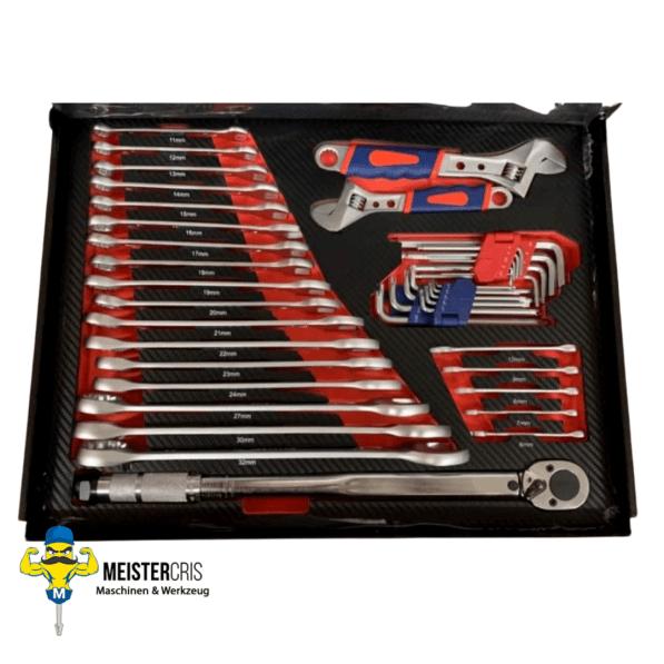 7 volle Schubladen auf 9 XXL Pro Werkzeugwagen 4