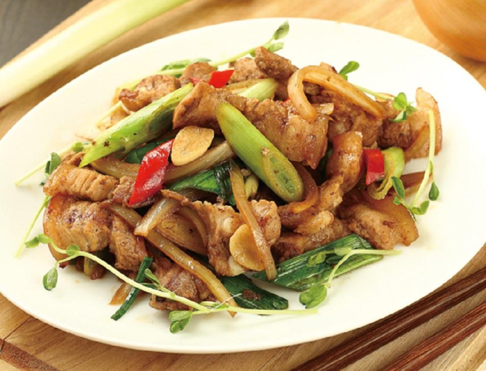 【五香蒜苗肉 + 五香蔥汁醬】 – meiweixhiyuan 美味之緣