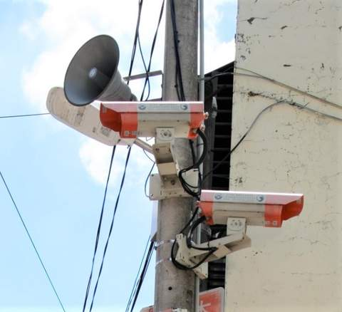 謝美英議員爭取龍平里裝設監視器