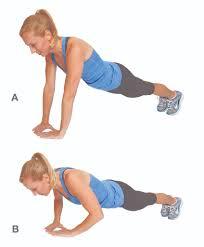 Flexiones diamante para fortalecer los brazos