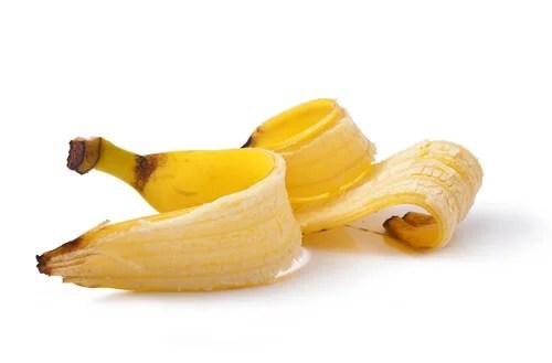Plátano para eliminar las verrugas.