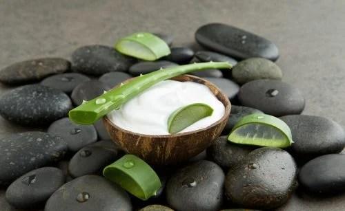 tratamiento de aloe vera y leche de coco