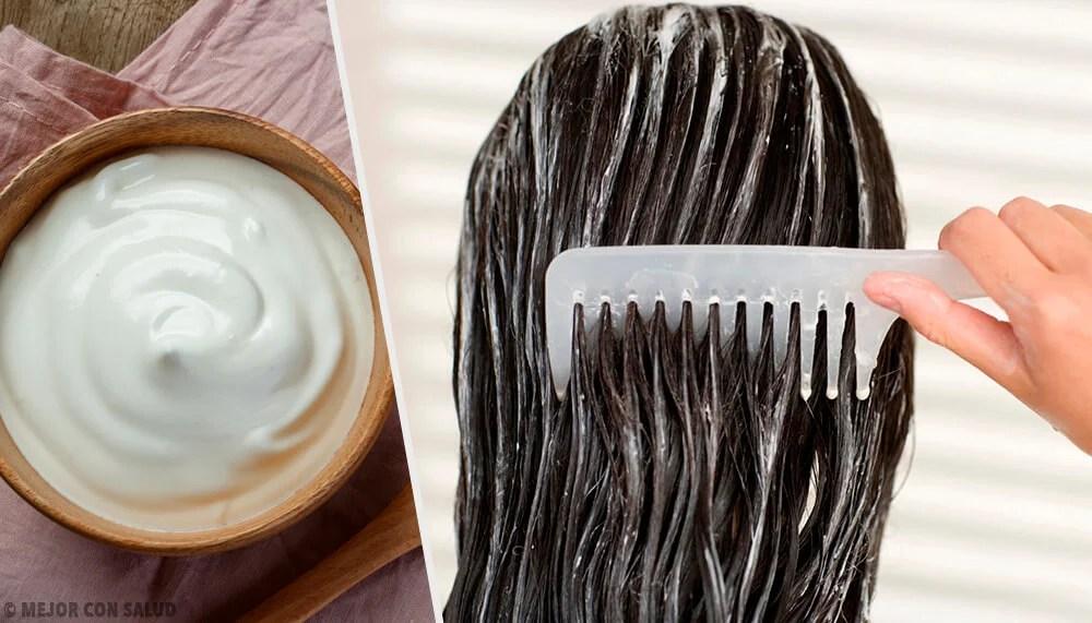 Embellece tu cabello con mascarillas de mayonesa.