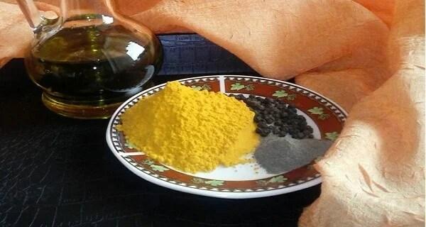 aceite de oliva pimienta negra y curcuma