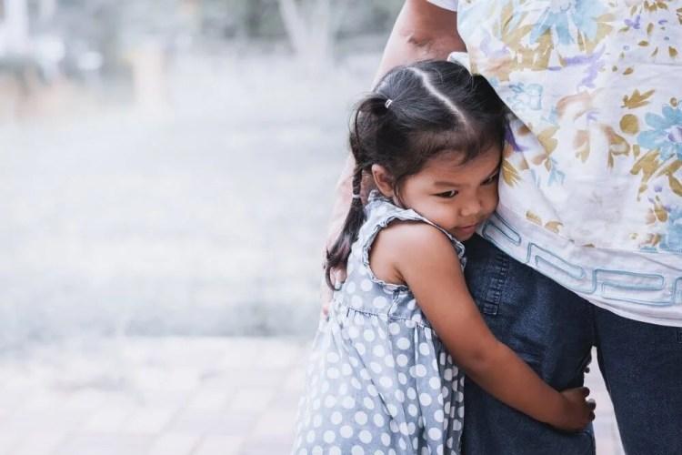 Niño con trastorno de ansiedad por separación