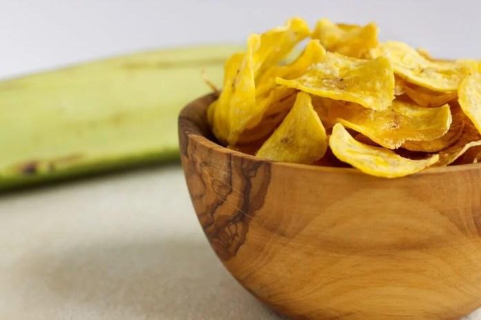 Snacks saludables de chips vegetales