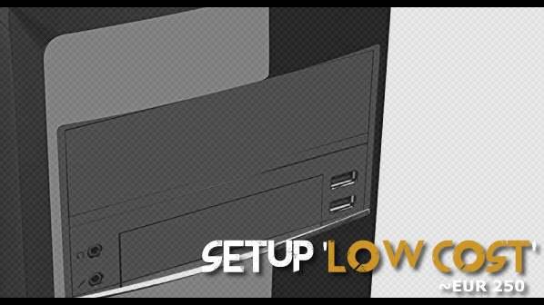PC Gaming compacto 280 € – El presupuesto más ajustado