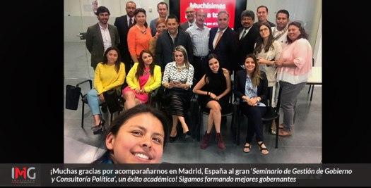 Seminario Gestión de Gobierno y Consultoría Pública en Madrid, España por el Instituto Mejores Gobernantes A.C., la Asociación de Municipios de México, la Universidad Camilo José Cela, el IFTP y el CIGMAP.