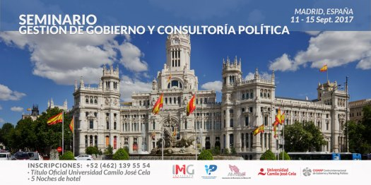 11-15 Septiembre Seminario Gestión de Gobierno y Consultoría Pública en Madrid, España.