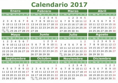 Calendarios 2017-2018 para descargar y compartir en WhatsApp 2018