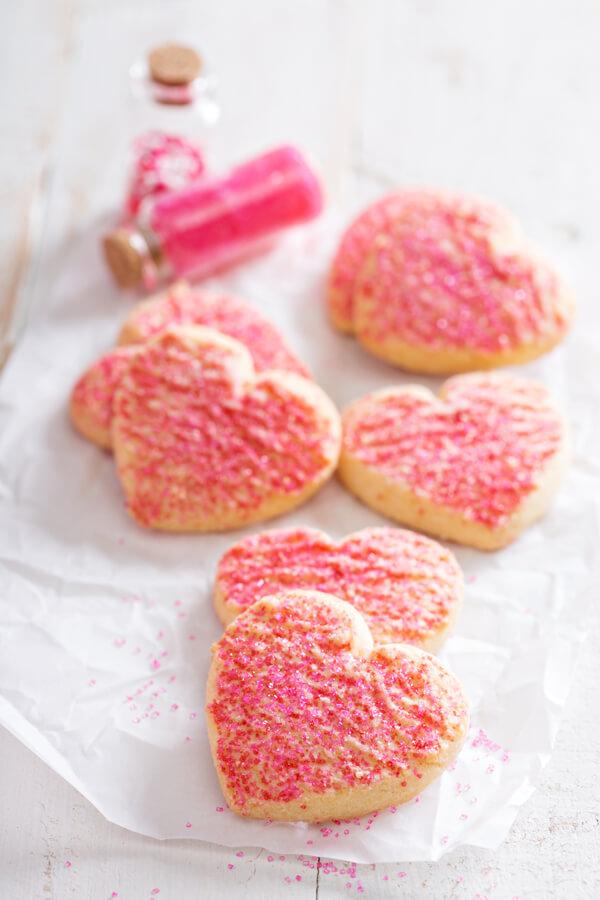 Receta de galletas de azúcar de San Valentín