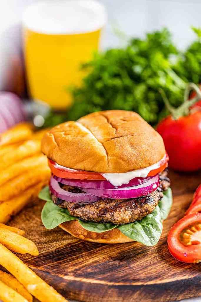 hamburguesa de pavo a la parrilla