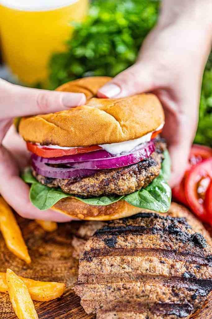 receta hamburguesa de pavo a la parrilla