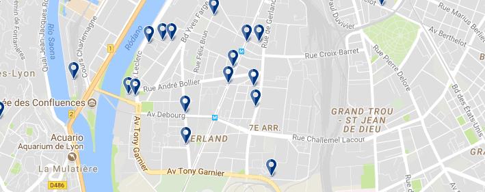 Alojamiento en el Distrito 7 - Clica sobre el mapa para ver todo el alojamiento en esta zona