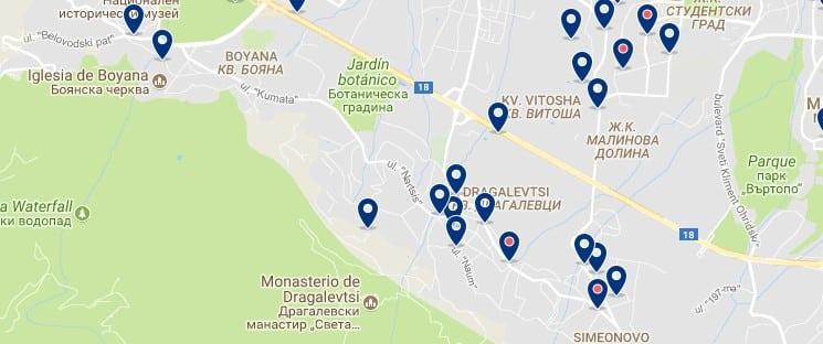 Alojamiento cerca de Vitosha - Sofía - Clica sobre el mapa para ver todo el alojamiento en esta zona.png